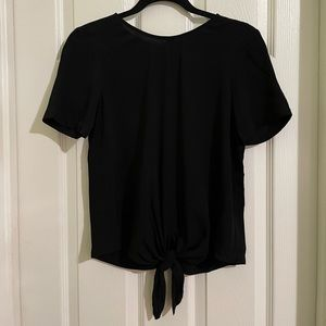 Madewell Button Back Tie Tee NWT